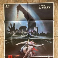 Cinema: CARTEL CINE ORIG ESTRENO EL DESTRIPADOR DE NUEVA YORK (1982) 70X100 / LUCIO FULCI. Lote 278953763