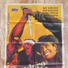 Cine: CARTEL CINE ORIG ESTRENO SENDERO DE ODIO (1964) 70X100 / MARINO GIROLAMI. Lote 278962643