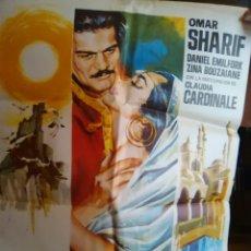 Cinema: DIAS DE AMOR CARTEL ORIGINAL1X70OMAR SHARIFF-CLAUDIA CARDINALE -ILUSTRADO POR JANO-. Lote 279366183