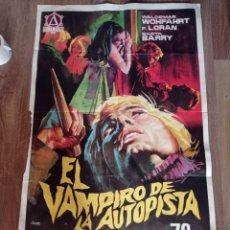 Cine: ANTIGUO CARTEL DE CINE ORIGINAL AÑOS 60 EL VAMPIRO DE LA AUTOPISTA. Lote 279506003