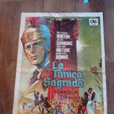 Cine: ANTIGUO CARTEL DE CINE ORIGINAL AÑOS 60 LA TÚNICA SAGRADA RICHARD BURTON. Lote 280334068
