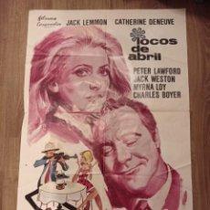 Cine: ANTIGUO CARTEL DE CINE ORIGINAL AÑOS 60 LOCOS DE ABRIL. Lote 280359263