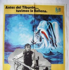 Cinema: MOBY DICK, CON GREGORY PECK. POSTER. 68,5 X 97,5 CMS.1978.. Lote 281807138