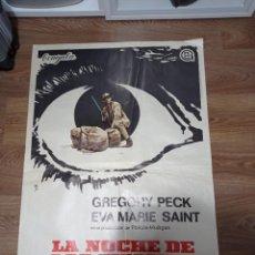 Cine: ANTIGUO CARTEL DE CINE ORIGINAL AÑOS 60 LA NOCHE DE LOS GIGANTES. Lote 282861158