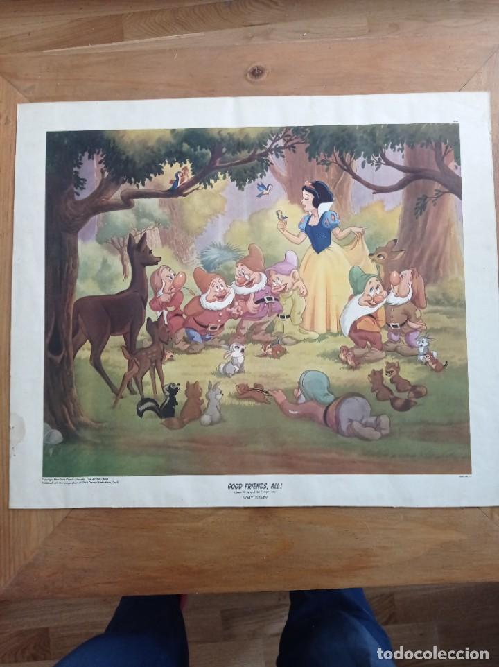 Cine: Poster Blancanieves y los enanitos- Good Friends all - Disney numerado - 45x52cm - Snow White - Foto 2 - 282875958