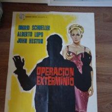 Cine: ANTIGUO CARTEL DE CINE ORIGINAL AÑOS 60 OPERACIÓN EXTERMINIO. Lote 282949048