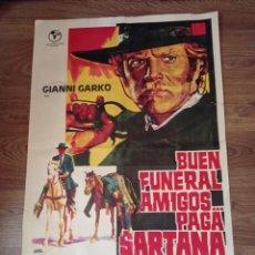 Cine: ANTIGUO CARTEL DE CINE ORIGINAL AÑOS 60 BUEN FUNERAL AMIGOS. Lote 283045168
