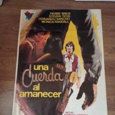 Cine: ANTIGUO CARTEL DE CINE ORIGINAL AÑOS 60 UNA CUERDA AL AMANECER. Lote 283047098