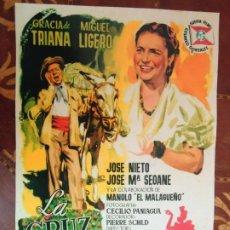 Cinema: POSTERS. LA CRUZ DE MAYO, GRACIA DE TRIANA, MIGUEL LIGERO, MEDIDAS: 40 X 29 CTS.. Lote 283099978