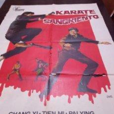 Cine: KARATE SANGRIENTO POSTER ESPAÑOL. KUNG FU, ARTES MARCIALES, CLASICO, DOBLADO.. Lote 283126513