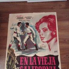 Cine: ANTIGUO CARTEL DE CINE ORIGINAL AÑOS 60 EN LA VIEJA CALIFORNIA. Lote 283262993