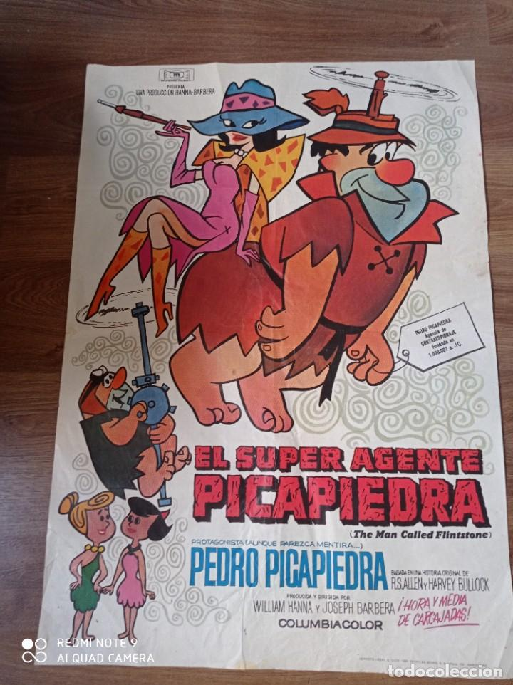 ANTIGUO CARTEL DE CINE ORIGINAL AÑOS 60 LOS PICAPIEDRA (Cine - Posters y Carteles - Infantil)