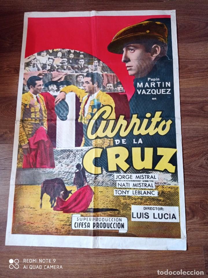 A TÍTULO CARTEL DE CINE ORIGINAL AÑOS 60 CURRITO DE LA CRUZ (Cine - Posters y Carteles - Clasico Español)