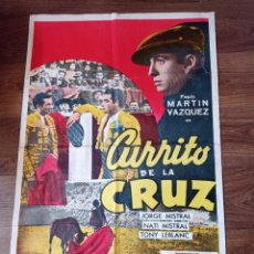 Cine: A TÍTULO CARTEL DE CINE ORIGINAL AÑOS 60 CURRITO DE LA CRUZ. Lote 283388748