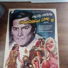 Cine: ANTIGUO CARTEL DE CINE ORIGINAL AÑOS 60 PALITO ORTEGA UN MUCHACHO CON COLO. Lote 283506043