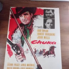 Cine: ANTIGUO CARTEL DE CINE ORIGINAL AÑOS 60 CHUKA. Lote 283506553