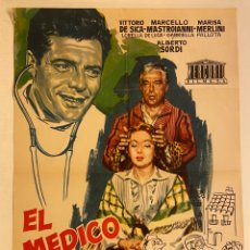 Cine: EL MÉDICO Y EL CURANDERO. CARTEL ORIGINAL 100X70. MARIO MONICELLI. Lote 283772643