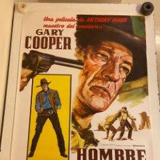 Cine: EL HOMBRE DEL OESTE. CARTEL ORIGINAL. 100X70. REPOSICIÓN 1986. ANTHONY MANN. Lote 284103768