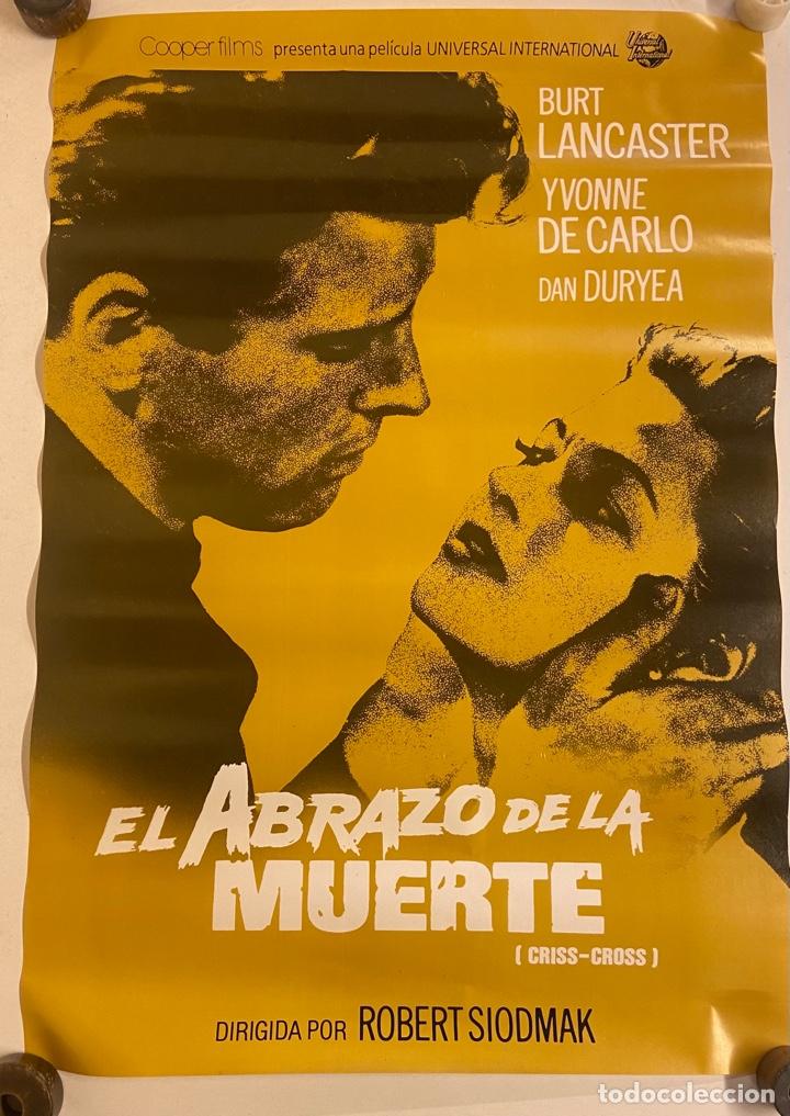 EL ABRAZO DE LA MUERTE. CARTEL ORIGINAL 100X70.REPOSICIÓN 1991 (Cine - Posters y Carteles - Suspense)
