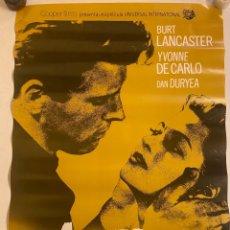 Cine: EL ABRAZO DE LA MUERTE. CARTEL ORIGINAL 100X70.REPOSICIÓN 1991. Lote 284122803