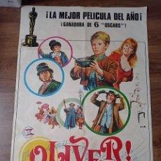Cine: ANTIGUO CARTEL DE CINE ORIGINAL AÑOS 60 OLIVER GANADORA DE 6 OSCAR. Lote 284411498