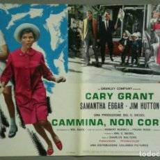 Cine: UI13D APARTAMENTO PARA TRES CARY GRANT MARCHA ATLETICA OLIMPIADAS POSTER ORIGINAL ITALIANO 47X68. Lote 284775523