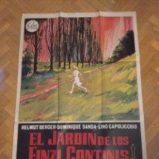 Cine: ANTIGUO CARTEL DE CINE ORIGINAL AÑOS 60 EL JARDÍN DE LOS FINZI CONTINIS. Lote 284810238