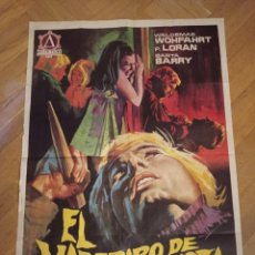 Cine: ANTIGUO PÓSTER ORIGINAL AÑOS 60 EL VAMPIRO DE LA AUTOPISTA. Lote 284810623