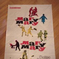 Cine: ANTIGUO CARTEL DE CINE ORIGINAL AÑOS 60 MARY, MARY,MARY, MARY,. Lote 284811048