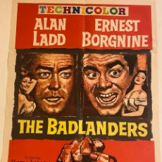 Cine: THE BADLANDERS. CARTEL ORIGINAL USA ONE SHEET 104X69. DELMER DAVES. Lote 285250628