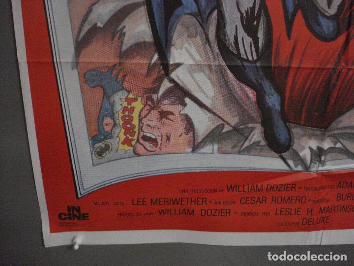 Cine: ABH41 BATMAN ADAM WEST COMIC TV SERIES POSTER ORIGINAL ESTRENO 70X100 - Foto 5 - 285298983