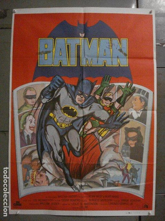 ABH41 BATMAN ADAM WEST COMIC TV SERIES POSTER ORIGINAL ESTRENO 70X100 (Cine - Posters y Carteles - Ciencia Ficción)