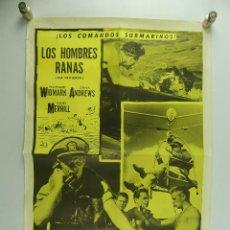 Cine: CARTEL DE CINE - LOS HOMBRES RANAS. Lote 285542918
