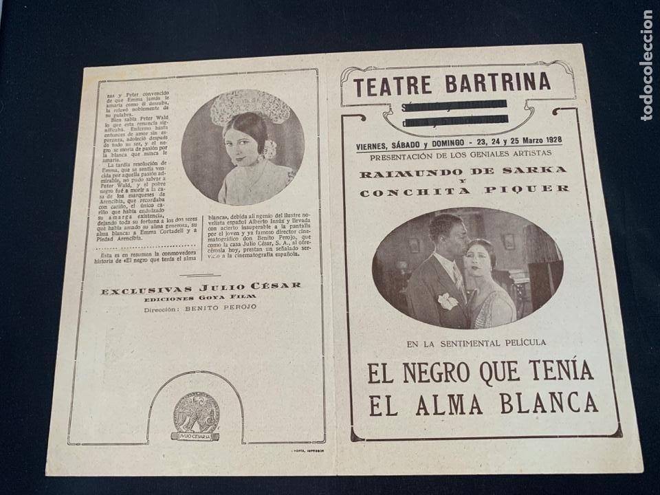 CARTEL CINE MUDO EL NEGRO QUE TENIA EL ALMA BLANCA 1928 CONCHA PIQUER (Cine - Posters y Carteles - Clasico Español)