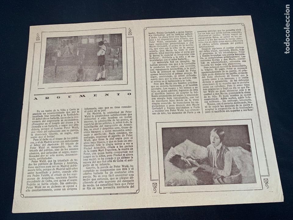 Cine: CARTEL CINE MUDO EL NEGRO QUE TENIA EL ALMA BLANCA 1928 CONCHA PIQUER - Foto 3 - 285631368