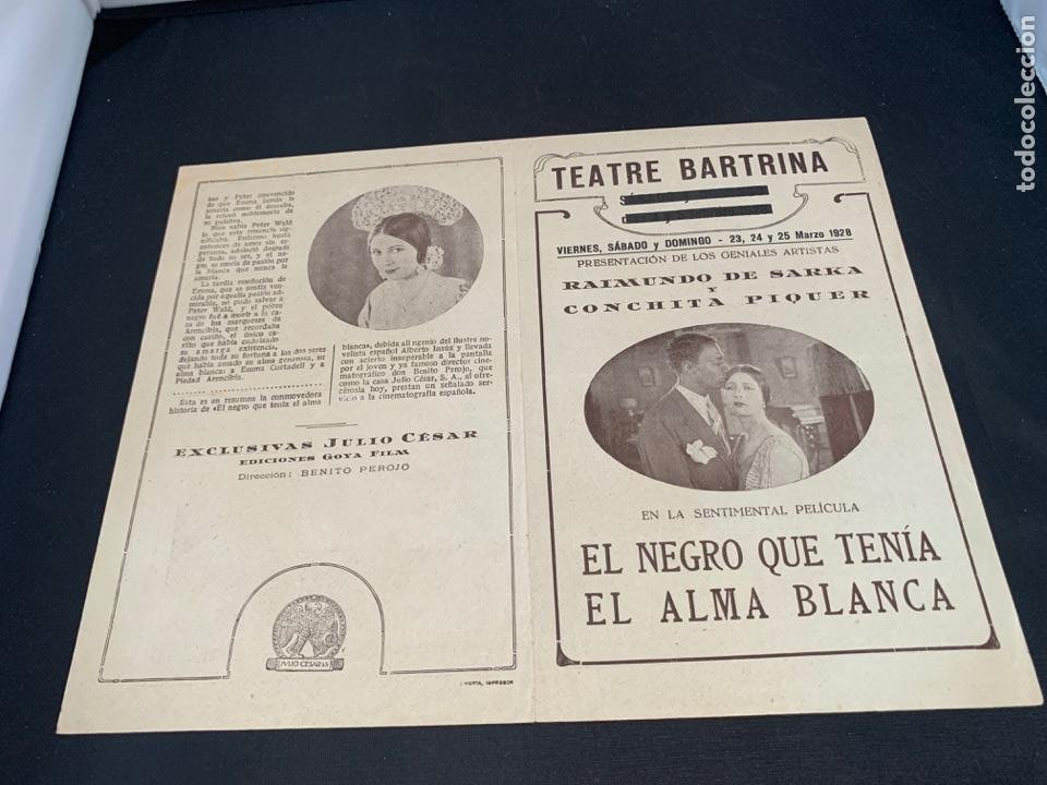 Cine: CARTEL CINE MUDO EL NEGRO QUE TENIA EL ALMA BLANCA 1928 CONCHA PIQUER - Foto 4 - 285631368
