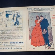 Cine: CARTEL CINE MUDO LUIS CANDELAS EL BANDIDO DE MADRID KURSAAL 1928. Lote 285631698