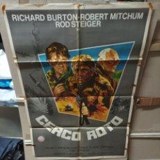 Cine: CERCO ROTO RICHARD BURTON MITCHUM POSTER ORIGINAL 70X100 YY(2747). Lote 285985043