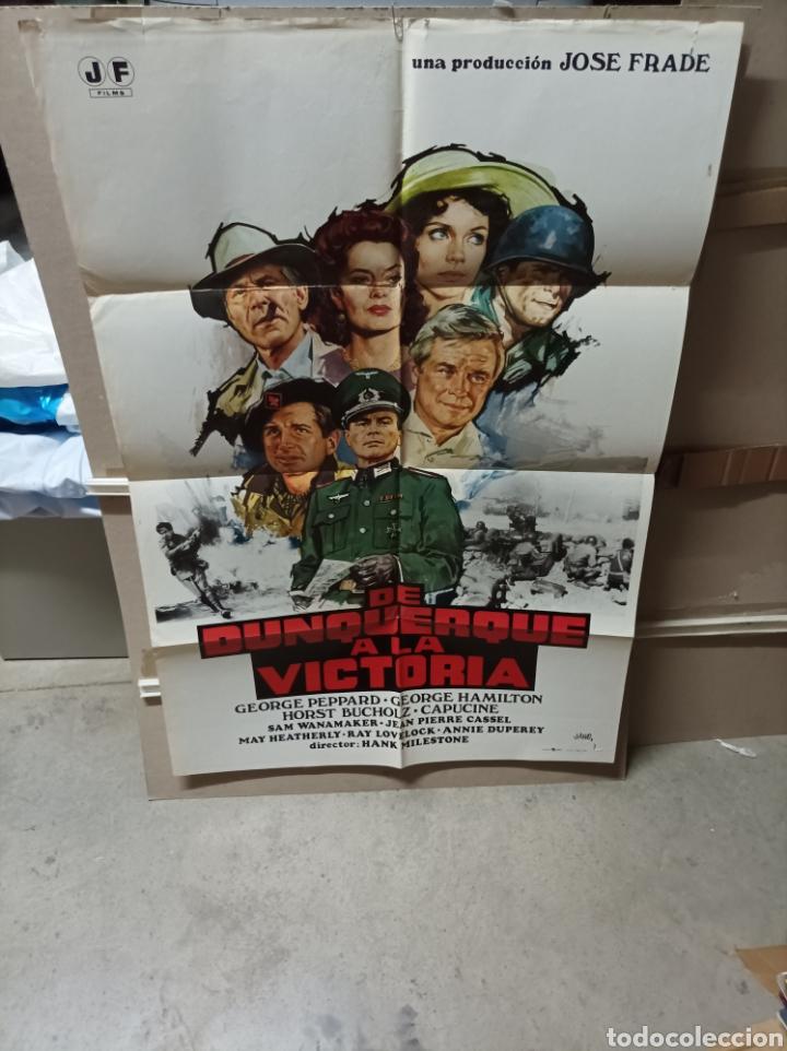 DE DUNQUERQUE A LA VICTORIA POSTER ORIGINAL 70X100 YY(2758) (Cine - Posters y Carteles - Bélicas)
