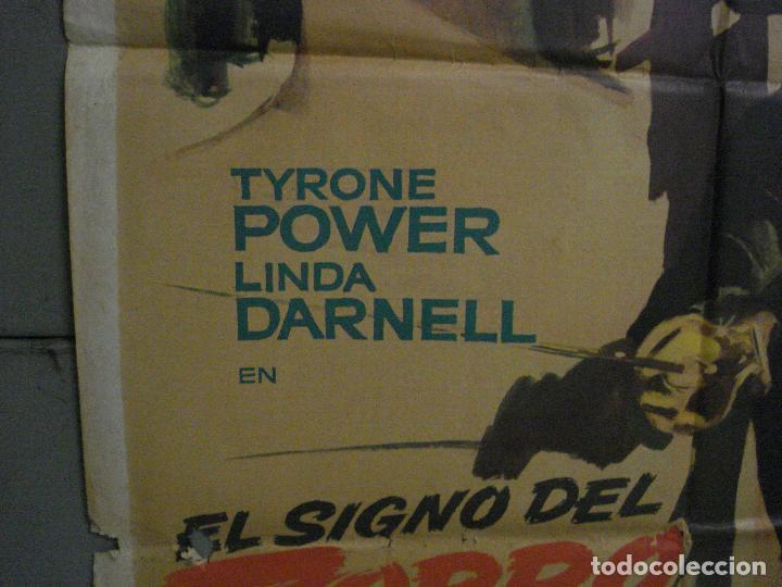 Cine: CDO M104 EL SIGNO DEL ZORRO TYRONE POWER LINDA DARNELL MAC POSTER ORIGINAL 70X100 ESPAÑOL R-63 - Foto 4 - 286151863