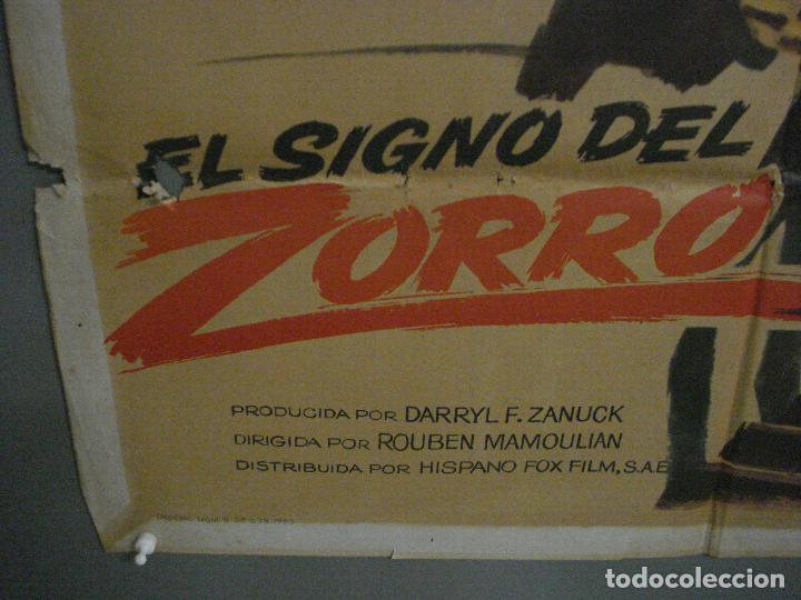 Cine: CDO M104 EL SIGNO DEL ZORRO TYRONE POWER LINDA DARNELL MAC POSTER ORIGINAL 70X100 ESPAÑOL R-63 - Foto 5 - 286151863