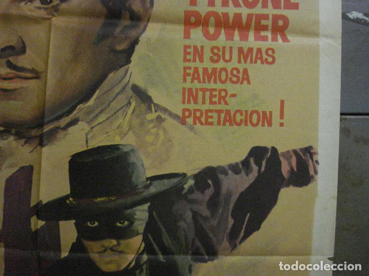 Cine: CDO M104 EL SIGNO DEL ZORRO TYRONE POWER LINDA DARNELL MAC POSTER ORIGINAL 70X100 ESPAÑOL R-63 - Foto 7 - 286151863