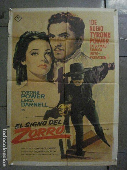 CDO M104 EL SIGNO DEL ZORRO TYRONE POWER LINDA DARNELL MAC POSTER ORIGINAL 70X100 ESPAÑOL R-63 (Cine - Posters y Carteles - Westerns)