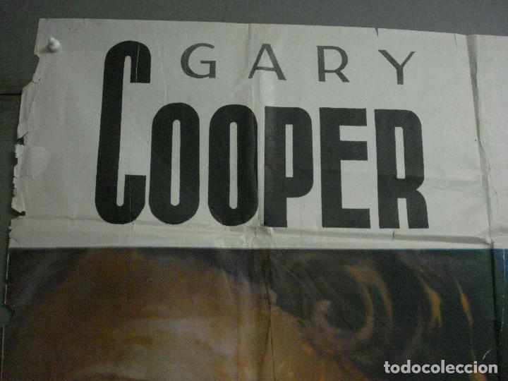 Cine: CDOX M107 MISTERIO EN EL BARCO PERDIDO GARY COOPER CHARLTON HESTON POSTER ORG 3 hojas 100X200 ESTREN - Foto 2 - 286154743