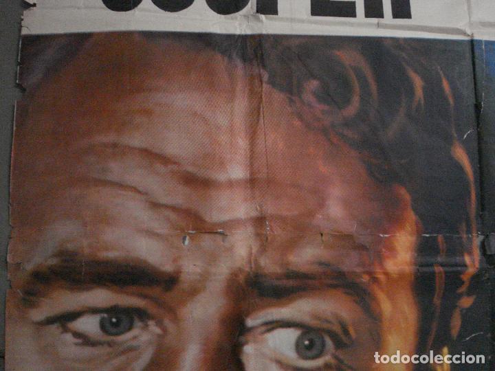 Cine: CDOX M107 MISTERIO EN EL BARCO PERDIDO GARY COOPER CHARLTON HESTON POSTER ORG 3 hojas 100X200 ESTREN - Foto 3 - 286154743