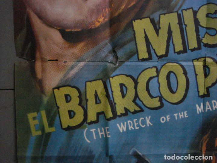 Cine: CDOX M107 MISTERIO EN EL BARCO PERDIDO GARY COOPER CHARLTON HESTON POSTER ORG 3 hojas 100X200 ESTREN - Foto 5 - 286154743