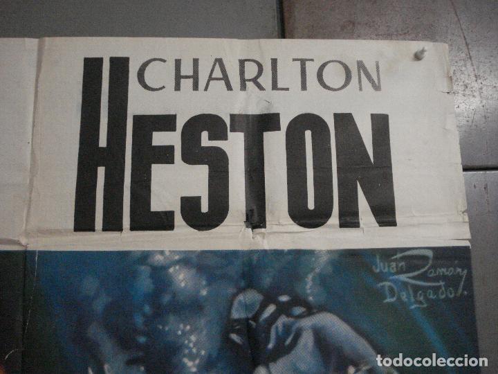 Cine: CDOX M107 MISTERIO EN EL BARCO PERDIDO GARY COOPER CHARLTON HESTON POSTER ORG 3 hojas 100X200 ESTREN - Foto 8 - 286154743