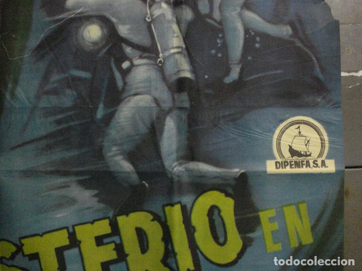 Cine: CDOX M107 MISTERIO EN EL BARCO PERDIDO GARY COOPER CHARLTON HESTON POSTER ORG 3 hojas 100X200 ESTREN - Foto 10 - 286154743