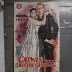 Cine: CDO M108 CRIMEN PARA RECIEN CASADOS CONCHA VELASCO FERNAN GOMEZ POSTER ORIG 3 HOJAS 100X205 ESTRENO. Lote 286155583