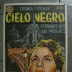 Cine: CDO M111 CIELO NEGRO FERNANDO REY SUSANA CANALES MANUEL MUR OTI POSTER ORIG 70X100 LITOGRAFIA R-59. Lote 286161413